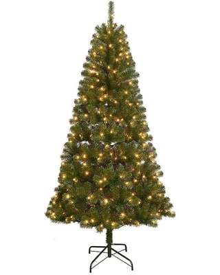 St. Nicholas Square® 7-ft. Slim Artificial Pre-lit (white lights) Christmas Tree @ Kohls - $57.79 + Free Shipping