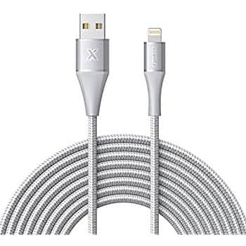 Xcentz iPhone Charger 10ft, Apple MFi Certified Lightning Cable, Braided Nylon $6.99