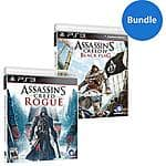 Assassin's Creed Black Flag and Rogue Bundle Walmart Exclusive (PS3) $14.99