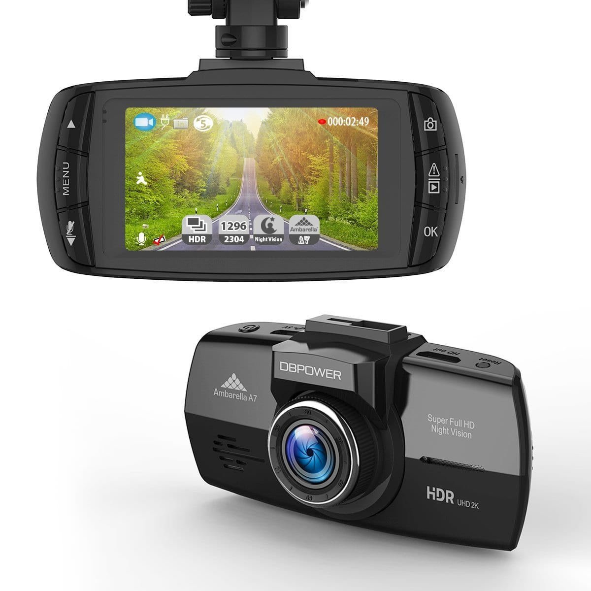 urlhasbeenblocked 2K FHD DVR 2.7-Inch LCD 150 Degree Wide Angle Dash Cam with G-Sensor, Loop Recording, HDR, Night Vision - $29.99 FS
