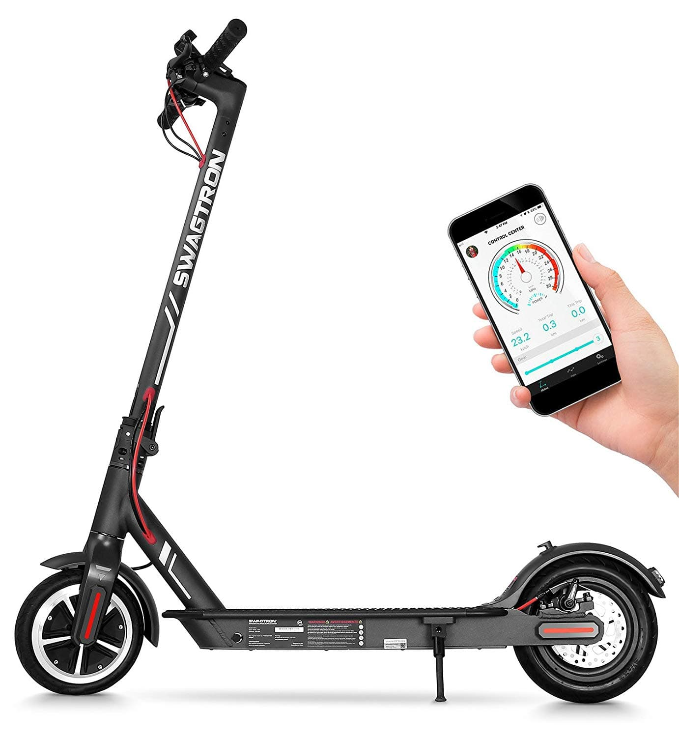 Swagtron Swagger 5 Elite Foldable City Commuter Electric Scooter