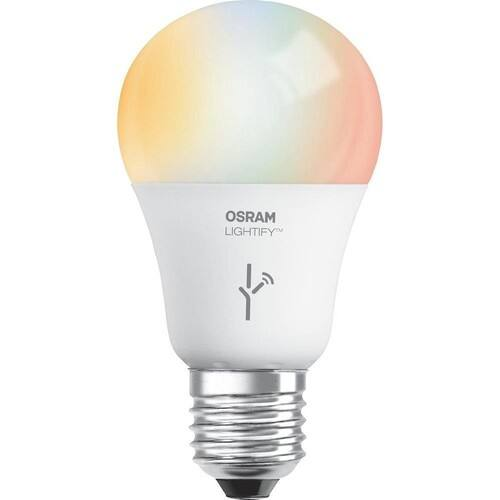 SYLVANIA SMART+ A19 Full Color + Tunable White LED Bulb, 60W Equivalent, Works with Amazon Alexa and SmartThings, 73693 (Formerly LIGHTIFY) $28.99 + FS for Prime Members $28.97