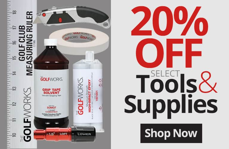 20% off select tools & supplies @ Golfworks