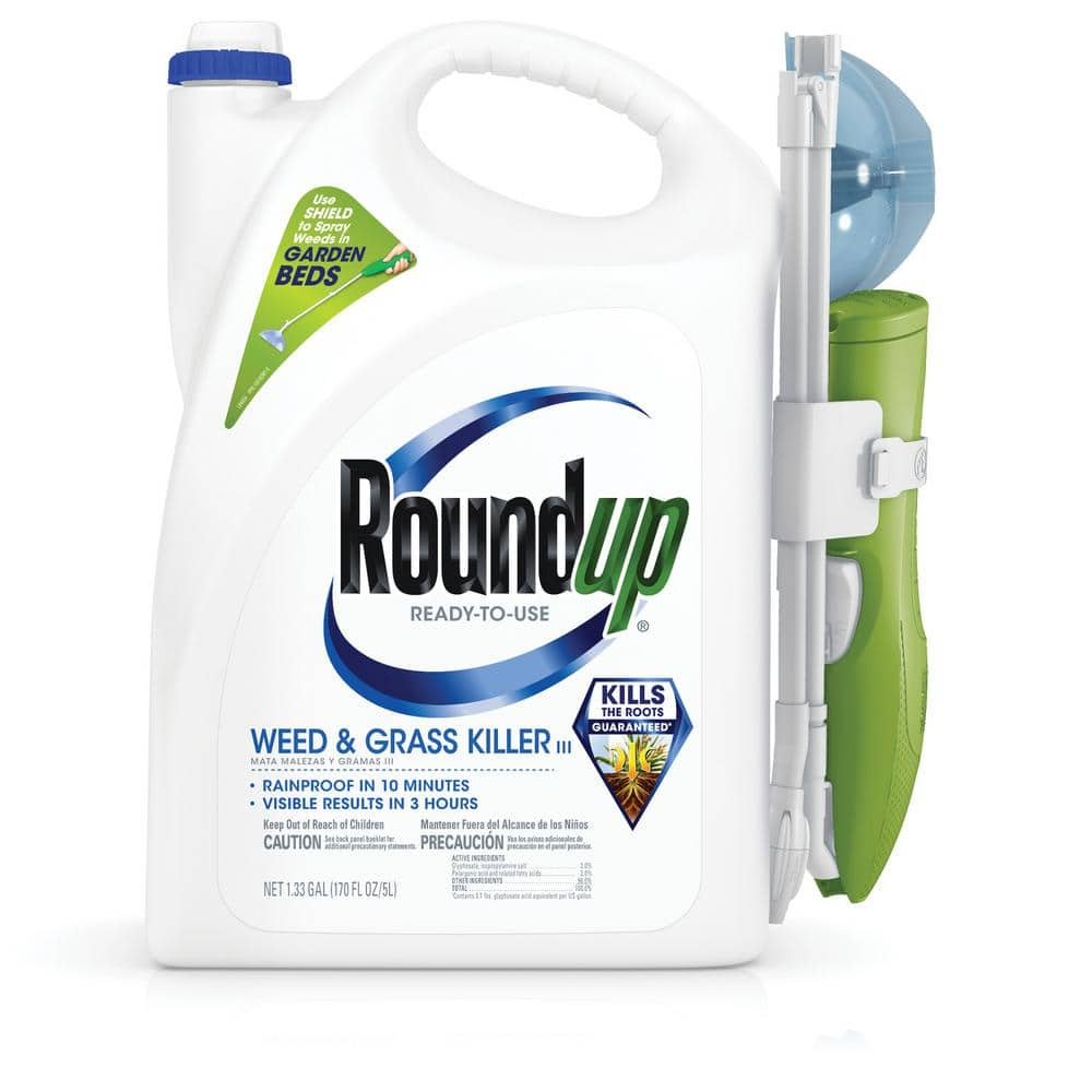 Roundup Ready-to-Use Weed and Grass Killer with Sure Shot Wand-520051010 - The Home Depot $14.97