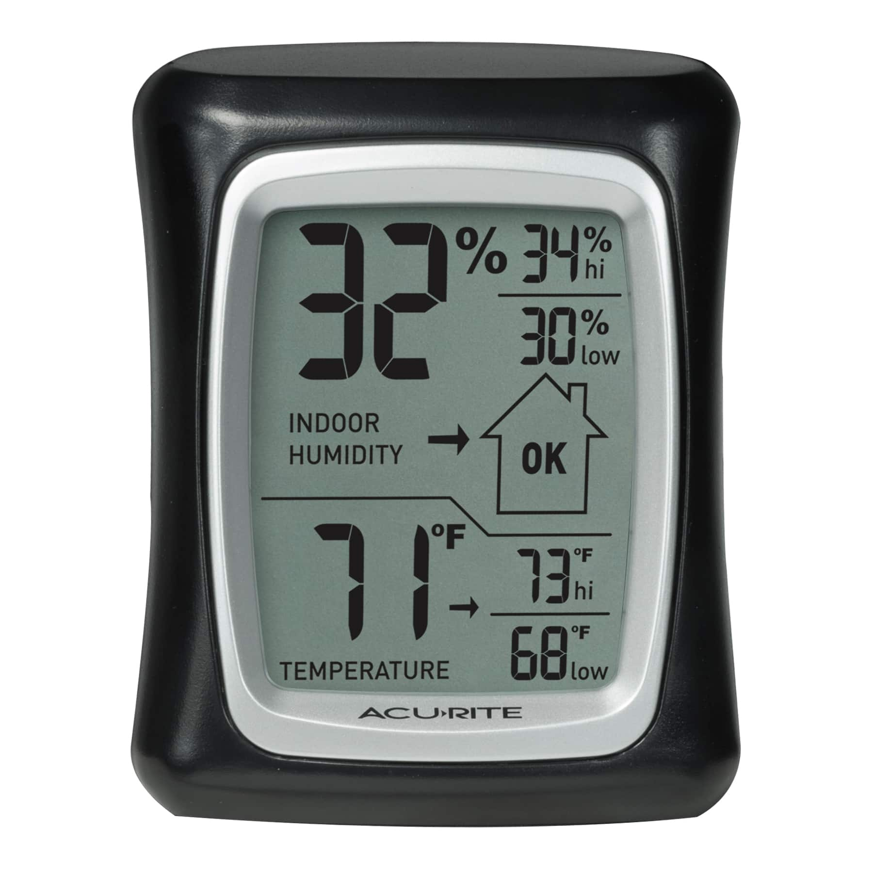 * AcuRite Indoor Thermometer and Hygrometer with Humidity Gauge * $9