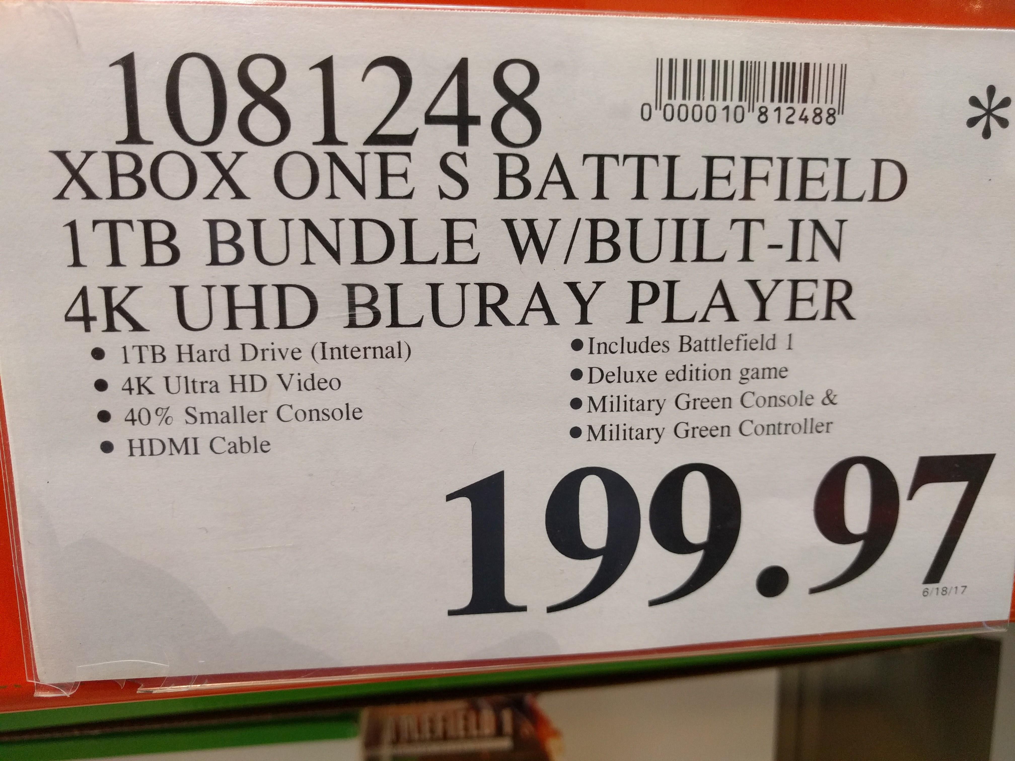 1tb Xbox One S Battlefield Bundle At Costco 199 Slickdealsnet