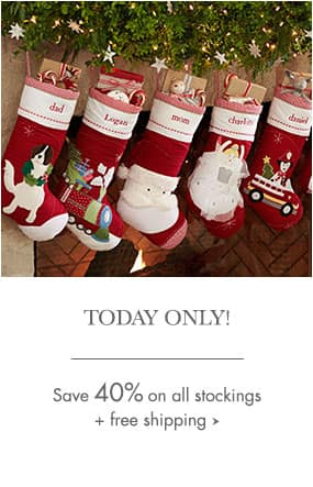 Pottery Barn Kids - 40% off All Stockings + Free Shipping