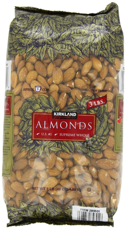 $3.18 per pound of Kirkland Almonds. 7 bags x 3lb. Jet.com