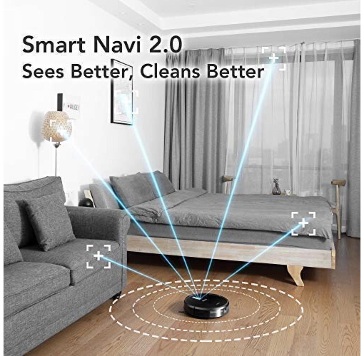 ECOVACS DEEBOT 711 Robot Vacuum Cleaner with Smart Navi 2.0 $329.99 @ Amazon