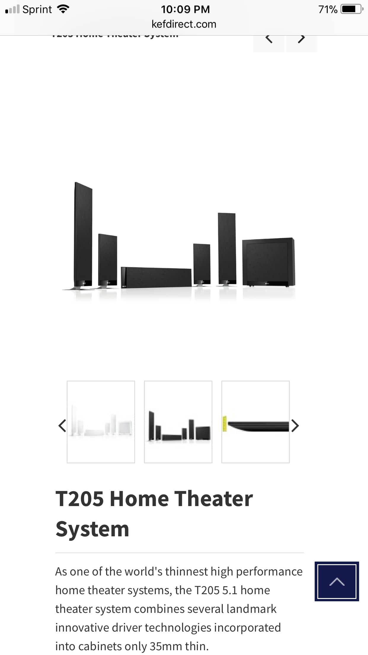 KEF t205 Home Theater System $1,199