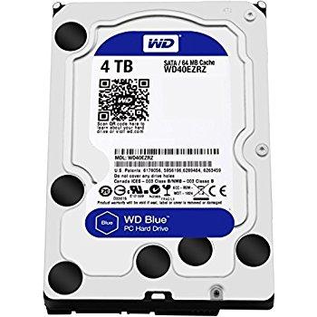 WD Blue 4TB Desktop Hard Disk Drive - 5400 RPM SATA 6Gb/s 64MB Cache 3.5 Inch - WD40EZRZ $96.99