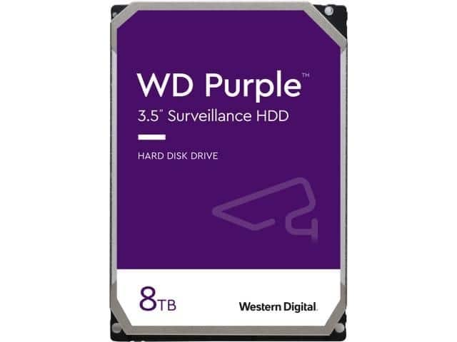 "WD Purple WD82PURZ 8TB 7200 RPM 256MB Cache SATA 6.0Gb/s 3.5"" Internal Hard Drive - $189.99 FS"