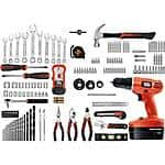 Black & Decker 18-Volt NiCad Drill and 133 pieces Home Project Kit  79.88