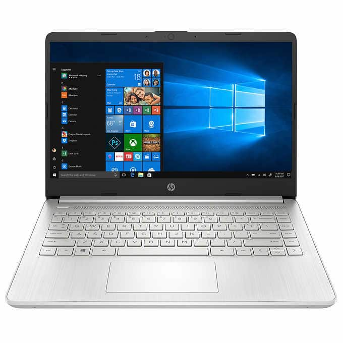 """Costco members: HP 14"""" Laptop with 10th Gen Intel Core i7-1065G7, 512GB SSD, 12GB RAM for $599.99"""
