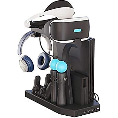 PS4 and VR - Playstation 4 Vertical Stand, Fan, Controller Charger and Hub $31.99