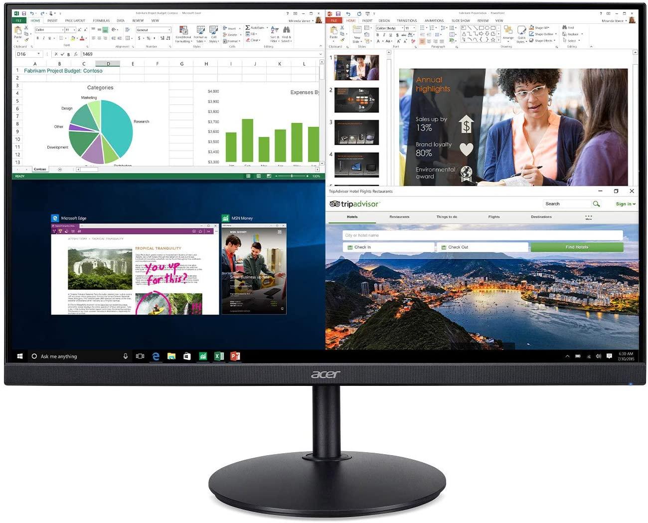 "Acer CB242Y 23.8"" Full HD IPS Zero Frame with AMD Radeon FreeSync - 1ms VRB, 75Hz Refresh Monitor - $69 Walmart Store YMMV"