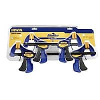 "Lowes Deal: 4 pack Irwin Quick Grip Clamps (2x 12"" and 2x 6"") $20 at lowes"