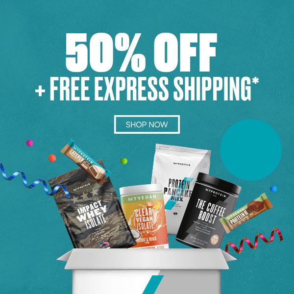 50% off sitewide at MyProtein.com $69.99