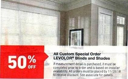 Lowe S Black Friday Levolor Custom Special Order Blinds And Shades
