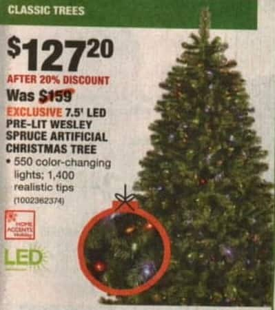 Home Depot Black Friday 75 Led Pre Lit Wesley Spruce Artificial