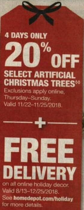 Home Depot Black Friday All Online Holiday Decor Free Delivery
