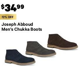31f560d70fca97 Groupon Black Friday: Joseph Abboud Men's Chukka Boots for $34.99 ...