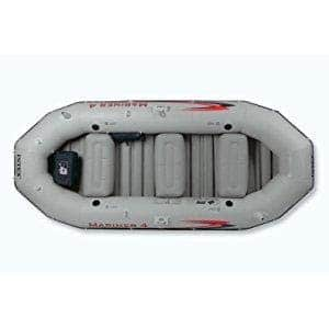 Intex Mariner 4, 4-Person Inflatable Boat Set with Aluminum Oars and High Output Air Pump  $179.19