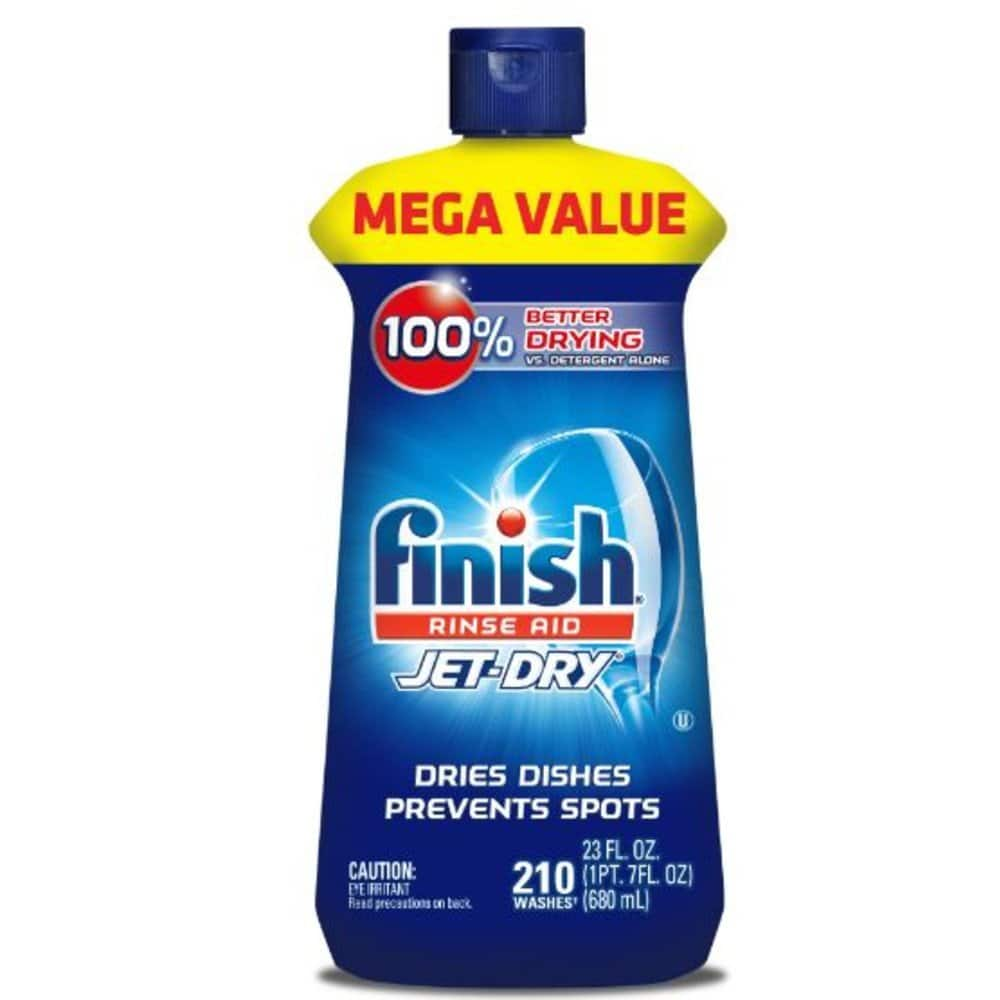 Finish Jet-Dry Rinse Aid, 23oz, Dishwasher Rinse Agent - Drying Agent - $7 Add-On or $6.65 S&S