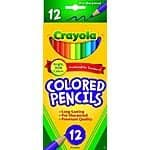 Crayola: 10-Count Washable Markers $2, 12-Count Colored Pencils  $1
