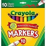 OOS--Crayola 10ct Classic Broad Line Markers $0.97 free ship w/Amazon Prime