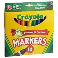 Amazon Deal: Crayola 10ct Classic Broad Line Markers $0.97 free ship w/Amazon Prime
