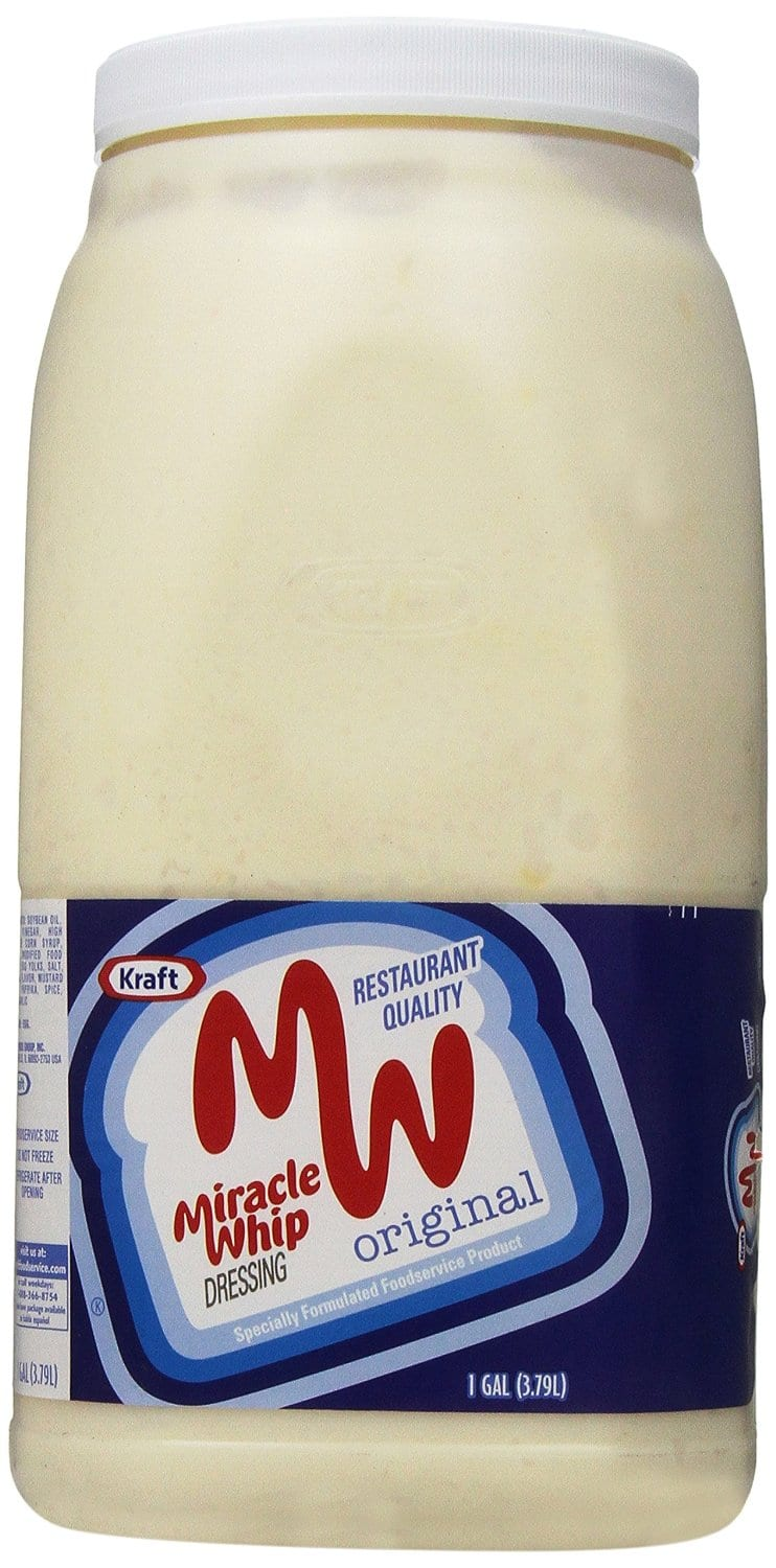 OOS--Miracle Whip Original Dressing, 128 Ounce(1 gallon container)$7.26 @5% S/S---$6.22 @15%S/S @Amazon
