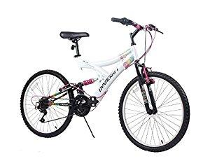 "DEAD----Dynacraft Women's 24"" 21 Speed Rip Curl Bike, 17""/One Size, White/Black/Pink $54.21 @Amazon"