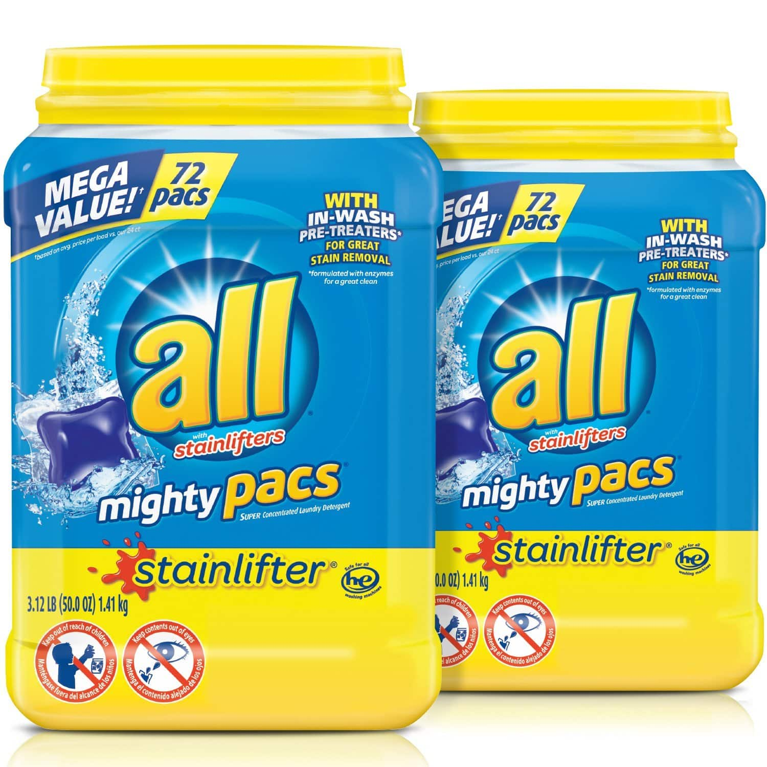 144-Ct all Mighty Pacs Laundry Detergent - Slickdeals.net