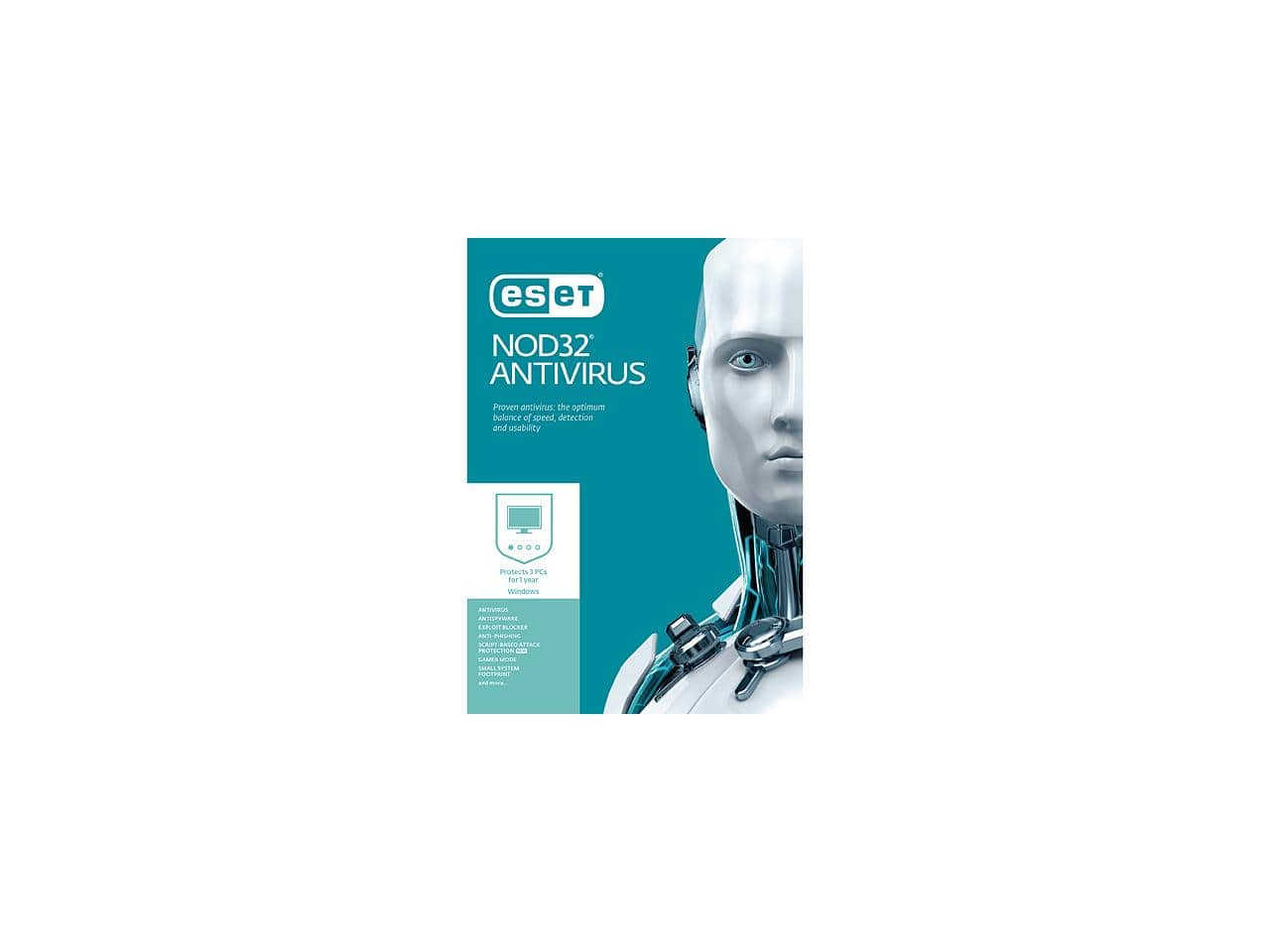 ESET NOD32 AntiVirus 3 PCs $15AC NewEgg.com