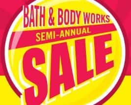 Bath and Body Works Semi Annual Sale 3 wick candles for $14.50 (reg $24.50) and more