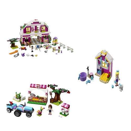 Lego Friends Co Pack  41206-Sunshine Harvest, 41029 Stephanie's Newborn Lamb, and 41039 Sunshine Ranch  $64 at TRU