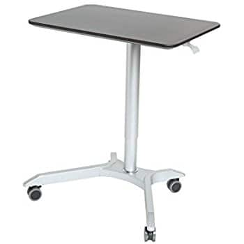 Seville Classics Sit-Stand laptop Desk Cart with Side Table $17