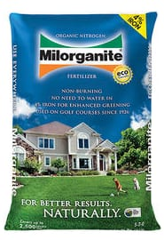 Milorganite 5-2-0 36lbs fertilizer on sale for $5.99 or $5.33 AR YMMV at Menards; possible PM to HD or Lowes