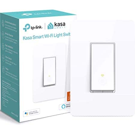 Kasa Smart Light Switch HS200, 2.4GHz Wi-Fi Light  Works with Alexa and Google Home $11.30