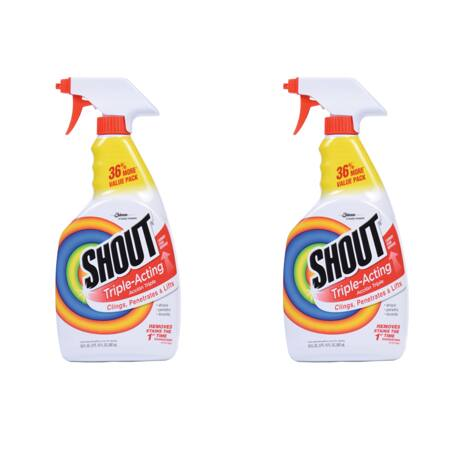 Walmart (2 Pack) Shout Triple-Acting Stain Remover Spray, 30 Ounces $5.94