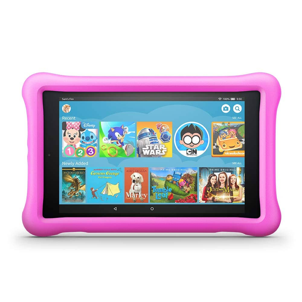 "Fire HD 8 Kids Edition Tablet, 8"" HD Display, 32 GB, Pink Kid-Proof Case $79.99"