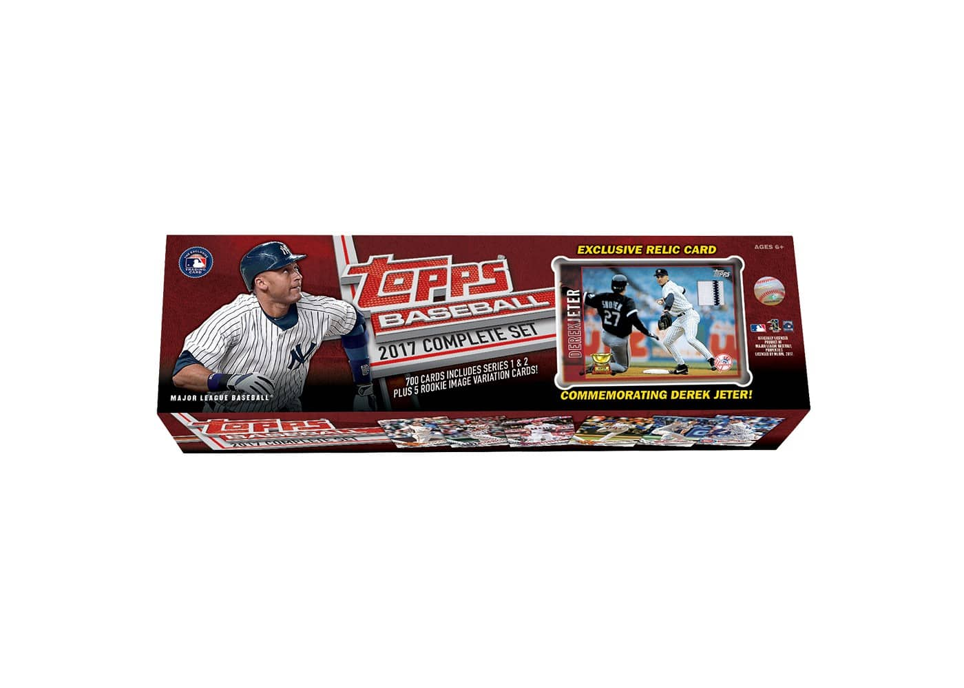 Topps Baseball 2017 Complete 700 Card Factory Set + Derek Jeter Game Used Relic Card $30.69 Shipped