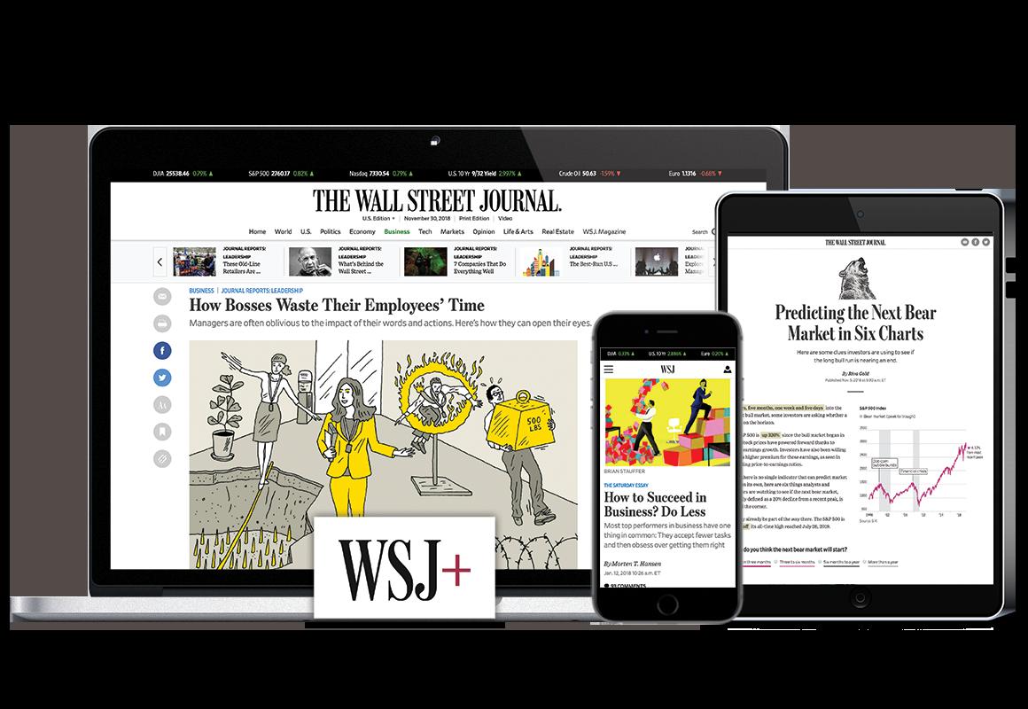 Wall Street Journal Digital $1 for 2 Months, $12 for 3 Months Print + Digital