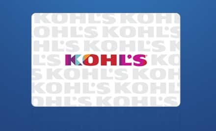 YMMV:  $20 Kohl's eGift card for $10