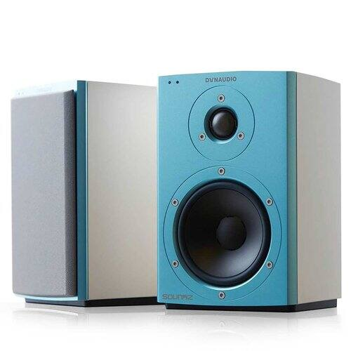 "Dynaudio Xeo 2 Wireless Bookshelf Speakers, Limited Edition - Pair (Blue/White) $809 + FS with promo code ""CYBER"" at World Wide Stereo $809.1"