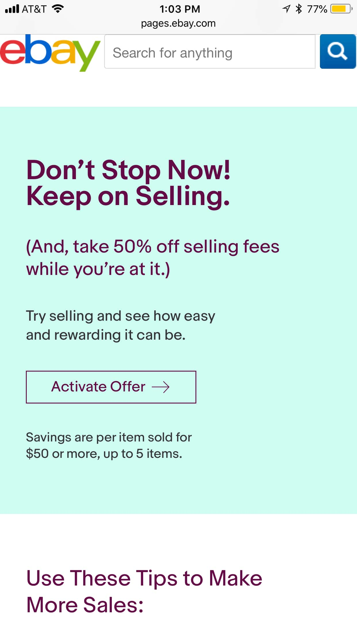 Ymmv Ebay Sellers 50 Off Final Value Fees On Up To 5 Items Sold For 50 Or More Slickdeals Net
