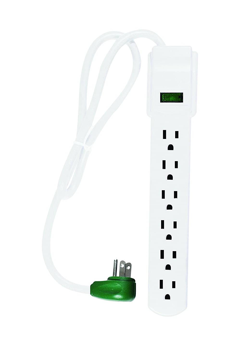 Right angle plug 6 Outlet Surge Protector w/ 2.5' Cord $4.57 add-on item