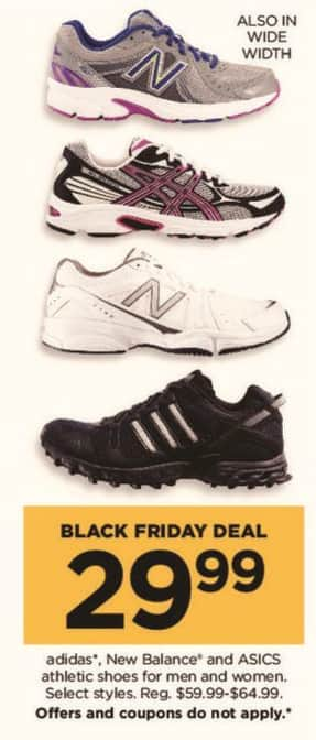 Kohl's Black Friday: Adidas, New Balance, And Asics Men And Women Athletic Shoes for $29.99