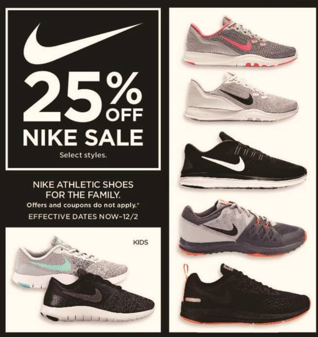 Kohl's Black Friday: Nike Athletic Shoes - 25% Off